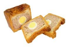 Пирог свинины традиционного английского яйца торжественный стоковые фотографии rf