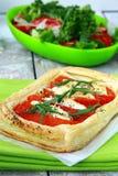 пирог слойки перцев печенья козочки сыра Стоковые Фото