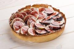Пирог со смоквой со сливк сыра стоковые фото