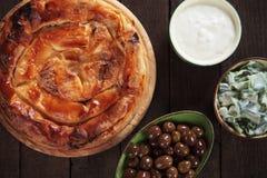 Пирог сыра печенья Phyllo Стоковая Фотография RF
