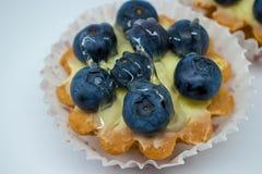 Пирог с голубиками стоковое изображение