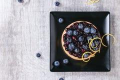 Пирог с голубиками стоковая фотография rf