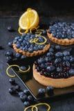 Пирог с голубиками стоковые фотографии rf