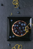 Пирог с голубиками стоковое фото