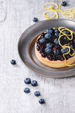 Пирог с голубиками стоковое фото rf