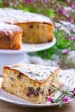 Пирог с грушами и шоколадом Стоковые Фото