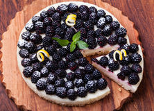 Пирог с ежевикой Стоковое Изображение RF