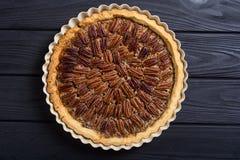 Пирог с орехами осени американский стоковое изображение rf