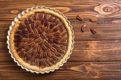Пирог с орехами осени американский стоковое фото rf