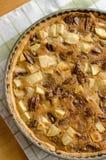 Пирог с орехами Яблока Стоковое Фото