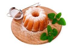 Пирог с пиперментом лист Стоковое Фото