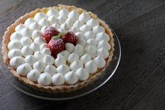 Пирог с свежей сливк Стоковая Фотография