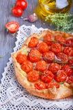 Пирог с томатами Стоковое Изображение