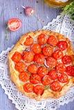 Пирог с томатами Стоковое Изображение RF