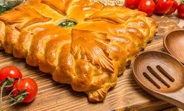 Пирог с луками и яичками Стоковое Изображение RF