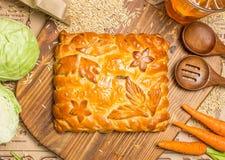 Пирог с луками и яичками Стоковые Фото
