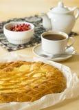 Пирог творога на завтраке Стоковое фото RF