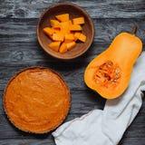 Пирог тыквы и сквош butternut с семенами Стоковая Фотография RF