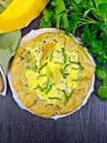 Пирог тыквы и сыра всех на верхней части Стоковая Фотография