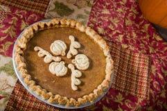 Пирог тыквы надземный с тканью Стоковые Изображения