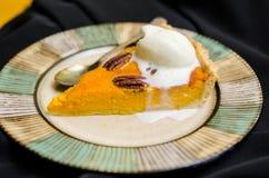 Пирог тыквы хеллоуина с специями Стоковые Фото