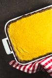 Пирог тыквы шоколада на праздник благодарения осматривает сверху Стоковые Изображения