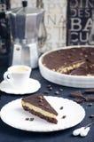 Пирог шоколада и кофе Стоковое Изображение