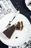 Пирог шоколада и кофе Стоковые Изображения