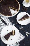 Пирог шоколада и кофе Стоковые Фотографии RF