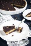 Пирог шоколада и кофе Стоковые Фото