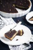 Пирог шоколада и кофе Стоковые Изображения RF