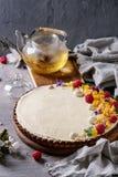 Пирог шоколада с манго и полениками Стоковое Фото