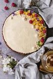 Пирог шоколада с манго и полениками Стоковые Изображения