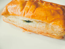Пирог шпината Стоковое Изображение