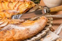 пирог яблока французский Стоковые Изображения