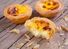 пирог яичка португальский Стоковые Изображения RF