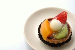 пирог 2 серий плиты плодоовощ Стоковые Фото