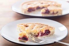 Пирог Bakewell вишни стоковые фотографии rf