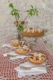 Пирог (crostata) с сливк mascarpone и шоколада Стоковая Фотография