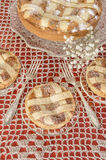 Пирог (crostata) с сливк mascarpone и шоколада Стоковая Фотография RF