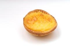 пирог pasteis заварного крема de natas португальский Стоковая Фотография