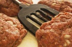 пирожки мяса сырцовые Стоковая Фотография RF