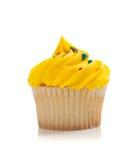 пирожне брызгает белый желтый цвет Стоковые Фотографии RF