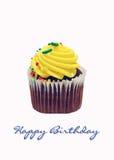 пирожне дня рождения счастливое Стоковая Фотография RF