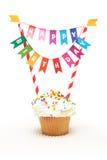 пирожне дня рождения счастливое стоковое изображение