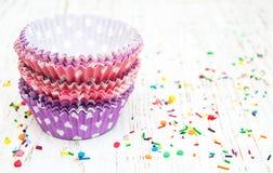 пирожне придает форму чашки пустая Стоковые Фотографии RF