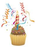 пирожне шоколада дня рождения иллюстрация штока