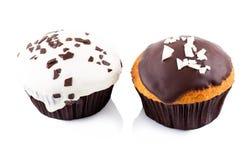2 пирожного в поливе Стоковые Фотографии RF