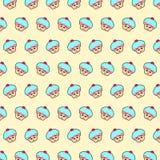 Пирожное - картина 40 emoji иллюстрация вектора