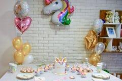 Пирожное партии единорога Стоковое Изображение RF